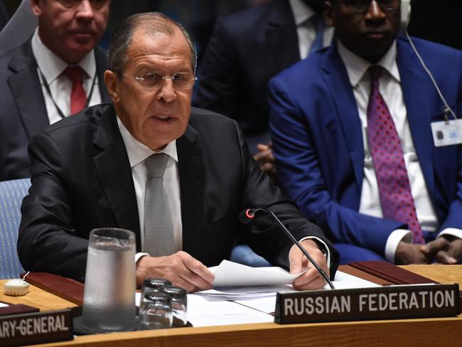 "Hitting back. Russian Foreign Minister Sergey Lavrov called Syria's conflict, as well as those in Iraq and Libya, the ""direct consequence"" of foreign military interventions and ""political engineering."""