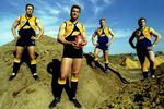 West Coast players (from left) Don Pyke, Glen Jakovich, Guy McKenna and John Worsfold in 1994.