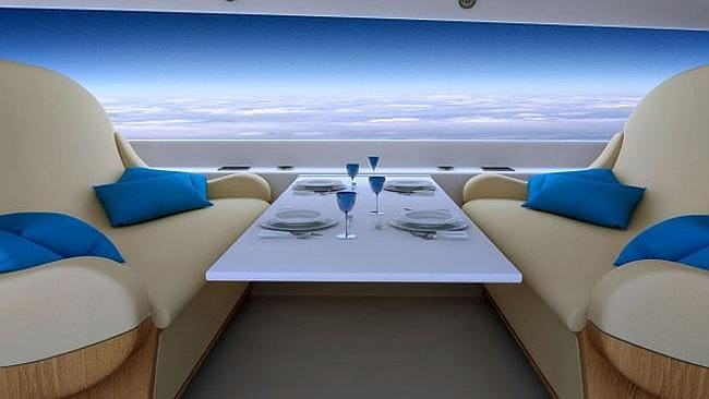 The display running the length of the cabin will broadcast the outside world. Source: Spike Aeorspace