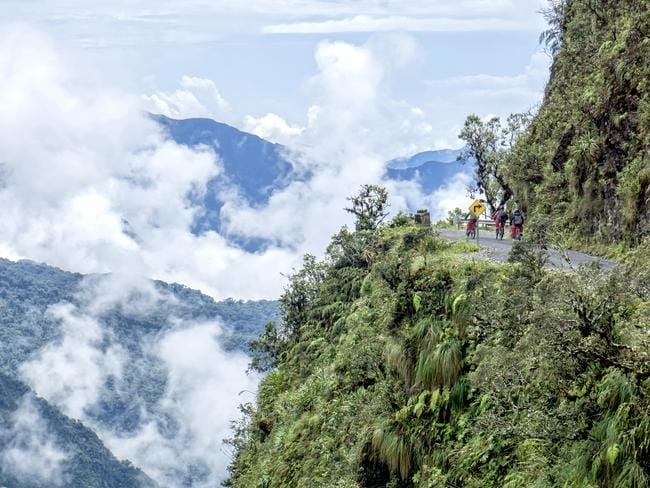 The view from the infamous Death Road in Bolivia is stunning — if you dare.