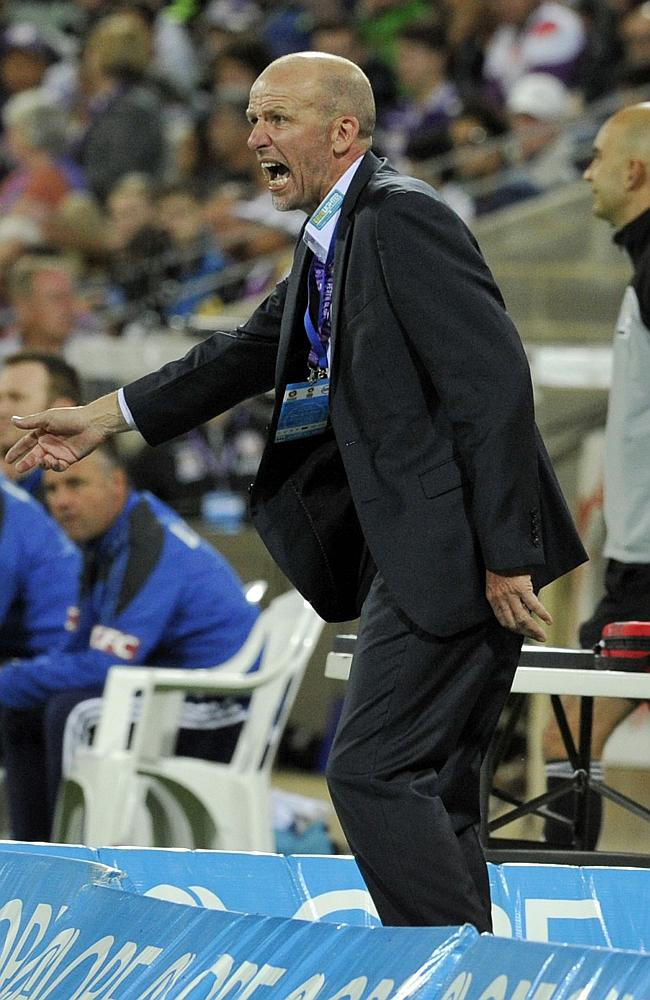 Kenny Lowe is always a colourful presence on the sidelines.