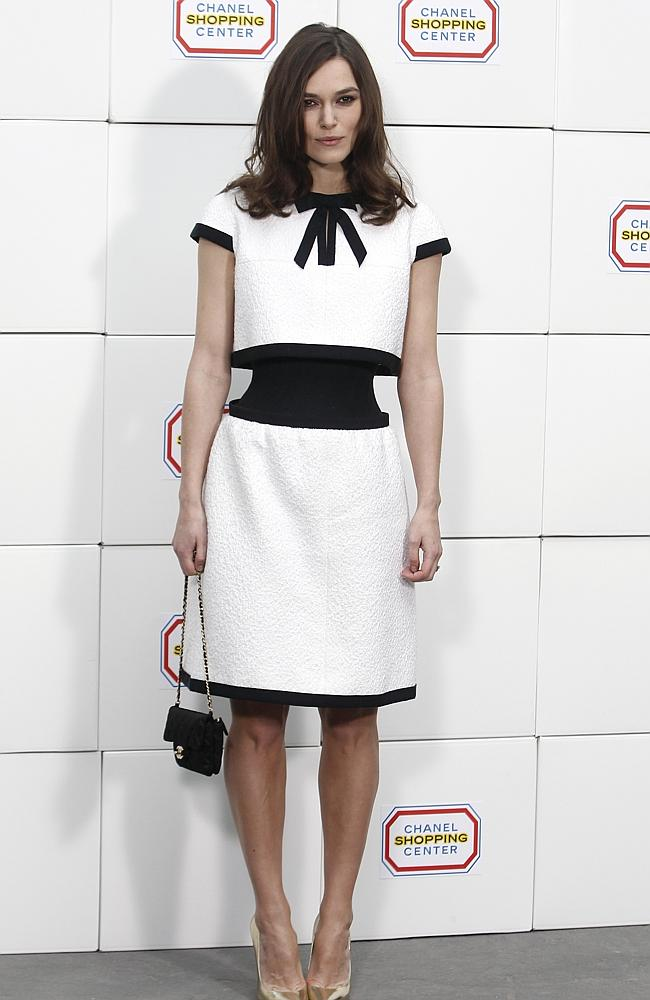 In fashion...Actress Keira Knightley shows off her tiny waist in a Chanel creation. Pictu