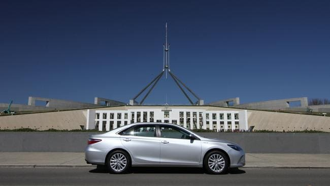 Where it all ended for the Camry and the rest of the car manufacturing industry: Parliament House, Canberra. Picture: Joshua Dowling.