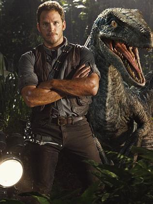 A still from the movie Jurassic World.