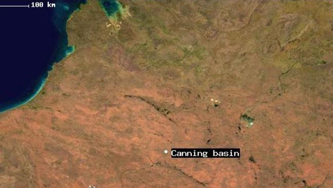 Roughly where the Canning Basin is located in WA.
