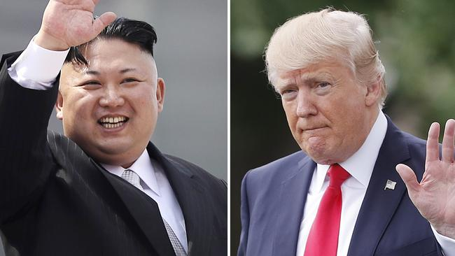 North Korean leader Kim Jong Un and US President Donald Trump. Picture: AP