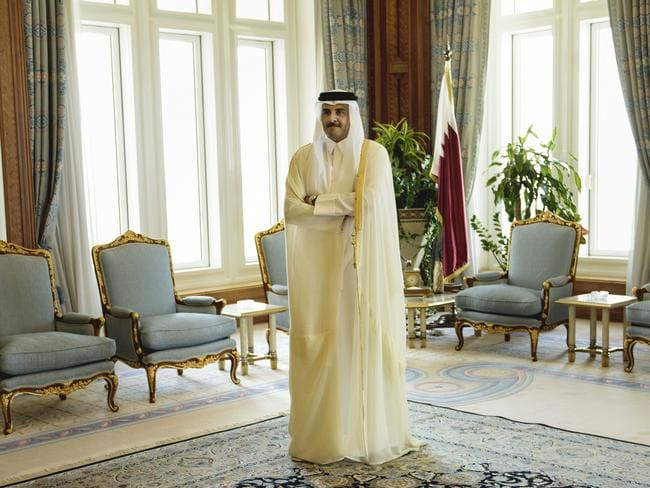 Qatar Emir Sheik Tamim bin Hamad Al-Thani. Picture: Brendan Smialowski/AP
