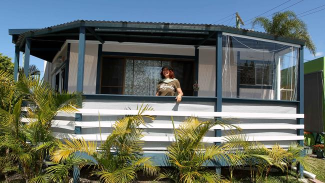 Vaska Blum's relocatable home in the Nobby Beach Holliday Village.