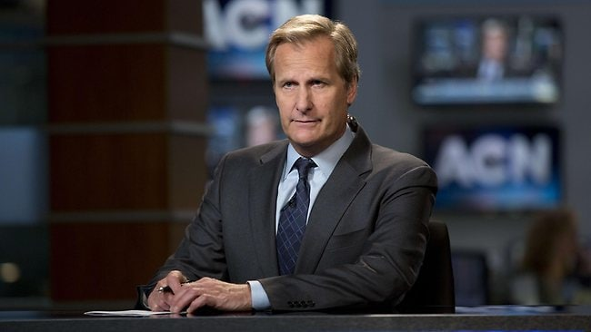Jeff Daniels as Will McAvoy on The Newsroom.