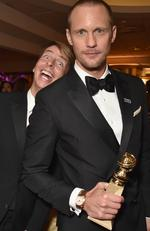 Jack McBrayer and Alexander Skarsgård attend HBO's Official 2018 Golden Globe Awards After Party on January 7, 2018 in Los Angeles, California. Picture: Getty