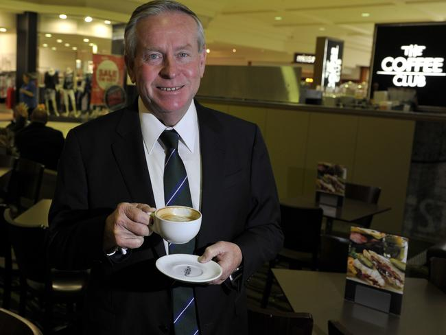 Yep, I need this: The Premier enjoys a nice hot coffee before sitting down with PerthNow. Picture: Justin Benson-Cooper.