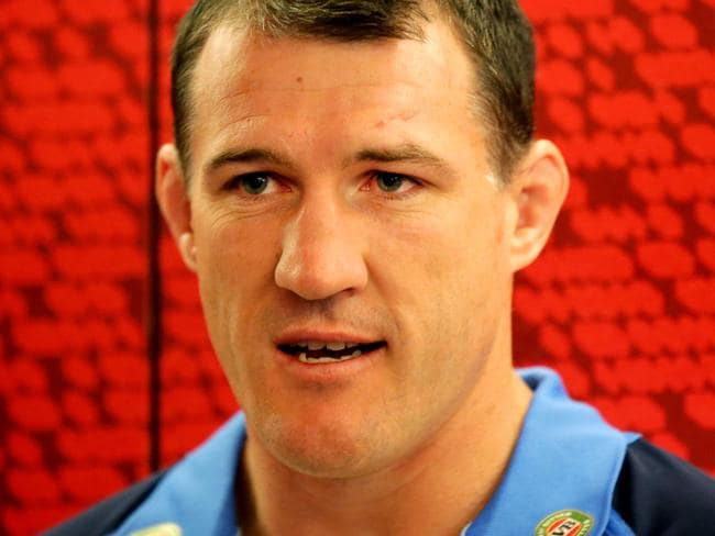 'Disgraceful': Paul Gallen has spoken about the toll on players due to ASADA investigation. Picture: Gregg Porteous