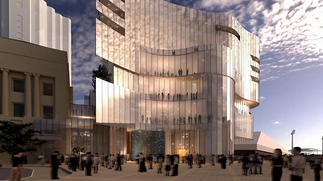 An artists impression of the potential expansion of Skycity Adelaide Casino