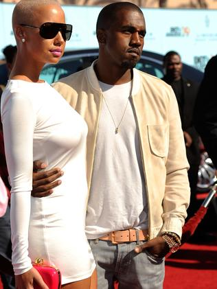 Kanye West dated Amber Rose, Blac Chyna's bestie, before he married Kim Kardashian. Picture: Frazer Harrison/Getty Images