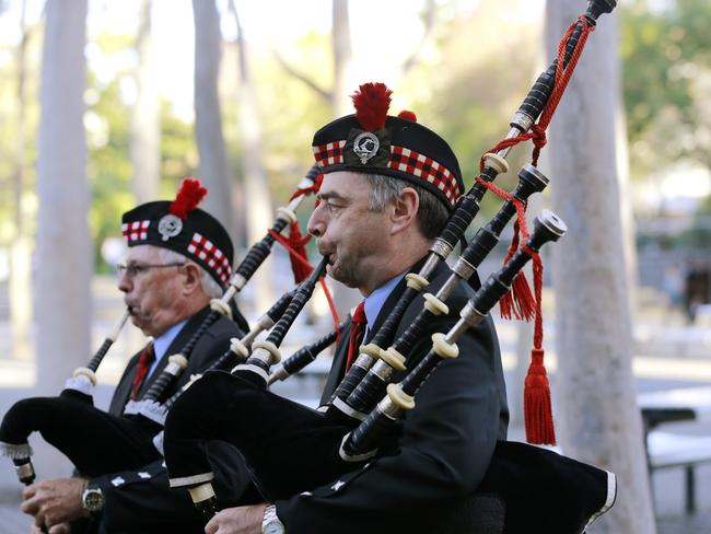 Want to get attention? Hire a bagpipe player.