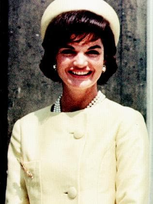 The former US first lady sporting a similar look. Picture: Supplied
