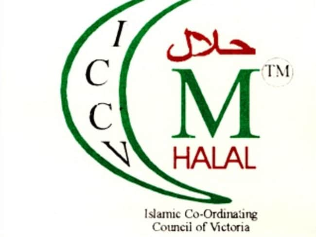 The halal symbol of the Islamic Co-Ordinating Council of Victoria.