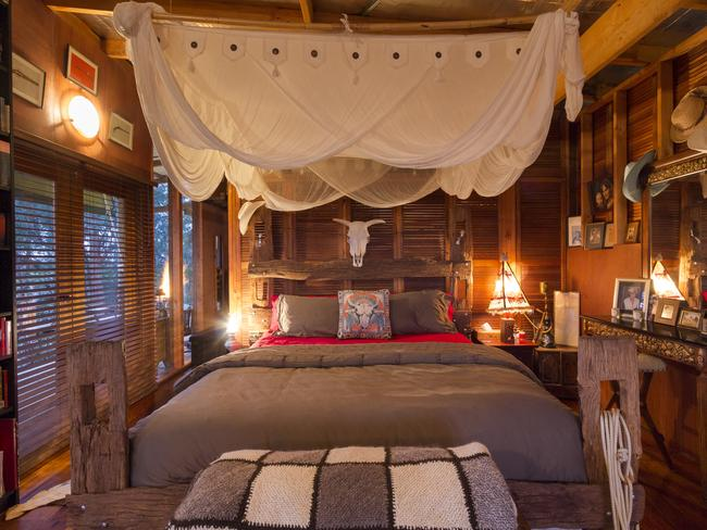 Walker's Run Wild West accommodation is spectacularly themed, with incredible attention to detail. Photo: Airbnb