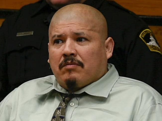 Luis Bracamontes is on trial in Sacramento Superior Court, accused of killing two police officers and wounding others in 2014. Picture: AP