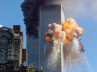 SEPTEMBER 11, 2001 : Ball of flame explodes from New York's World Trade Centre 11/09/01 as hijacked aircraft crashed through building in act of terrorism. USA / Crime / Bombing / Fire