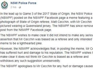 NSW Police have had to apologise.