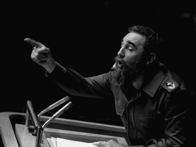 Cuban President, Fidel Castro at a United Nations General Assembly, in New York in 1979. Picture: AP