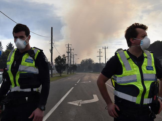 Smoke and ash is being blown across Melbourne. Picture: Nicole Garmston