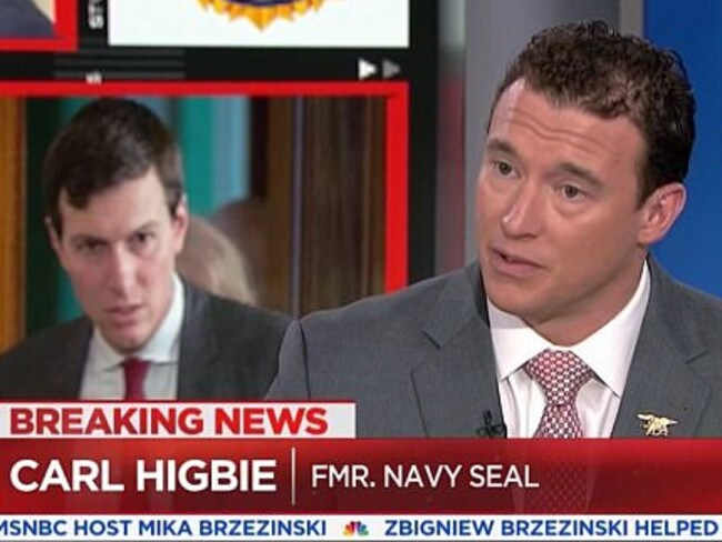 Carl Higbie is seen on MSNBC during the election campaign. Picture: MSNBC