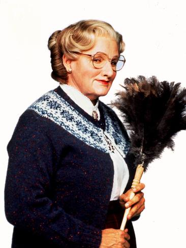 Robin Williams in beloved 1996 film 'Mrs Doubtfire'. Picture: Supplied