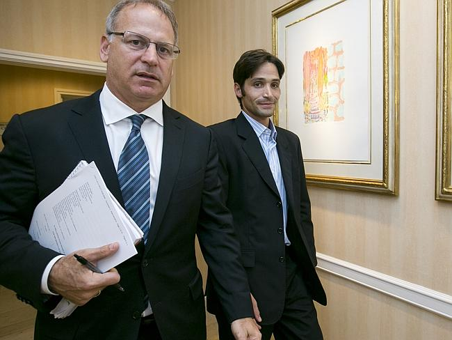 """On a mission ... Jeff Herman (left, with Michael Egan) has indicated this case is the """"fi"""