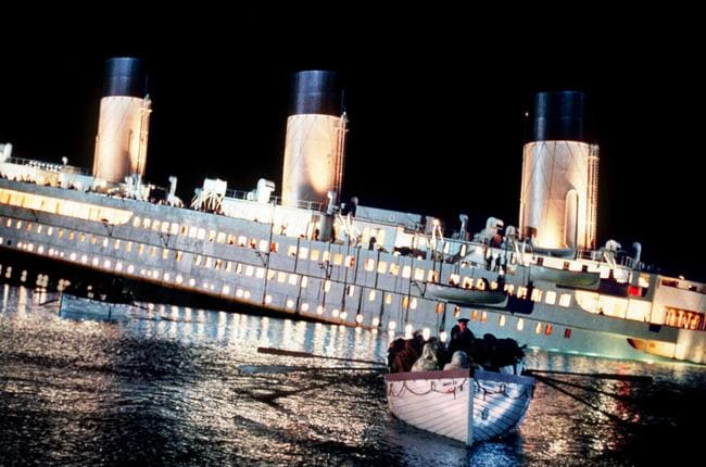 A scene from the movie Titanic.