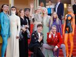 ": Actresses Nicole Kidman, Elle Fanning, actors Alex Sharp, AJ Lewis, director John Cameron Mitchell and the cast of the movie attend the ""How To Talk To Girls At Parties"" screening during the 70th annual Cannes Film Festival at Palais des Festivals on May 21, 2017 in Cannes, France. Picture: Getty"