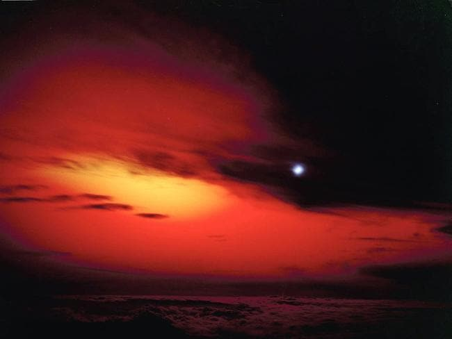 "The 1962 ""Starfish Prime"" high-altitude thermonuclear test which revealed the effects of EMP. This picture was taken 45 to 90 seconds after the detonation. Picture: Los Alamos National Laboratory"