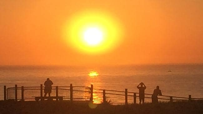 Things already heating up in Cronulla early Sunday morning. Picture: Kristi Miller.