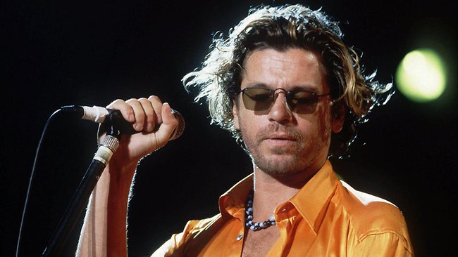 Michael Hutchence during a concert at the Paleo Festival in Nyon, Switzerland in 1994.