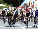 Andre Greipel wins the first stage from Caleb Ewan and Peter Sagan. Picture Sarah Reed