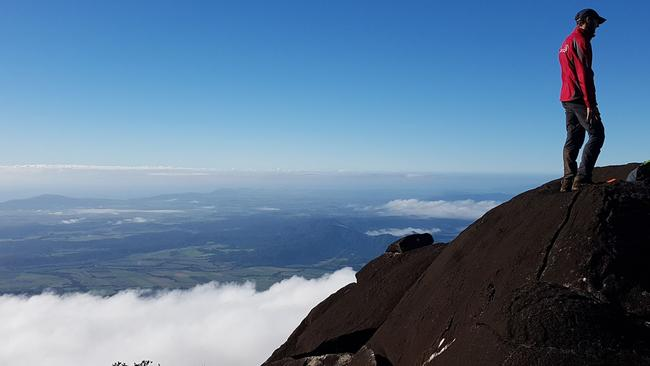 The overwhelming perspective from a limit of Mt Bartle Frere. Picture: Supplied
