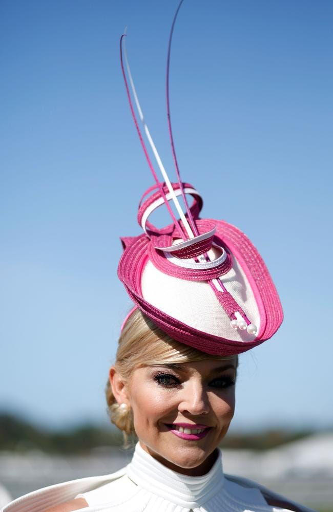 Racegoers enjoy the atmosphere on Melbourne Cup Day at Flemington Racecourse on November 3, 2015 in Melbourne, Australia. Pictur: Zak Kaczmarek/Getty Images for the VRC