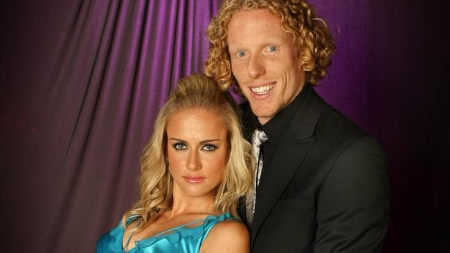 Steve Hooker and wife Ekaterina Kostetskaya.