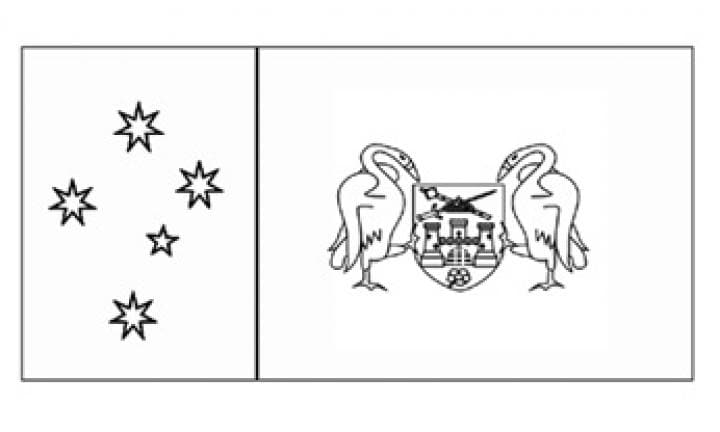 Flags of australia flag of australian capital territory for Flag of australia coloring page