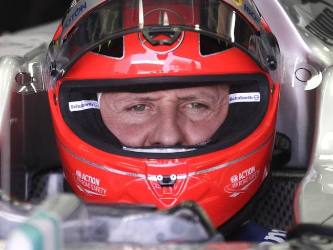 Schumacher behind the wheel in 2012. Picture: AP Photo/Victor Caivano