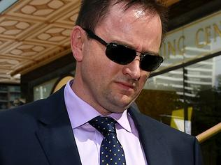 Cameron White leaves the Downing Centre Court, in Sydney, Wednesday, March 22, 2017. White, a former teacher at a NSW college is facing 30 sexual assault charges against two 15 year old female students. (AAP Image/Dan Himbrechts) NO ARCHIVING