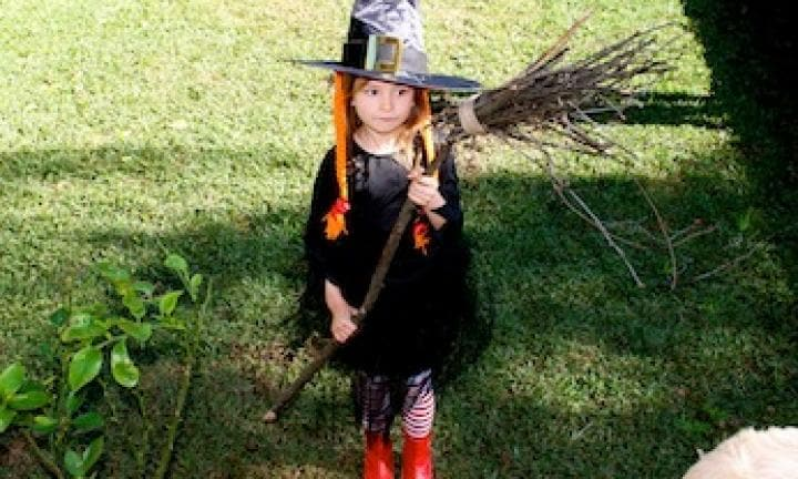 Witch costume: make a witch's broomstick