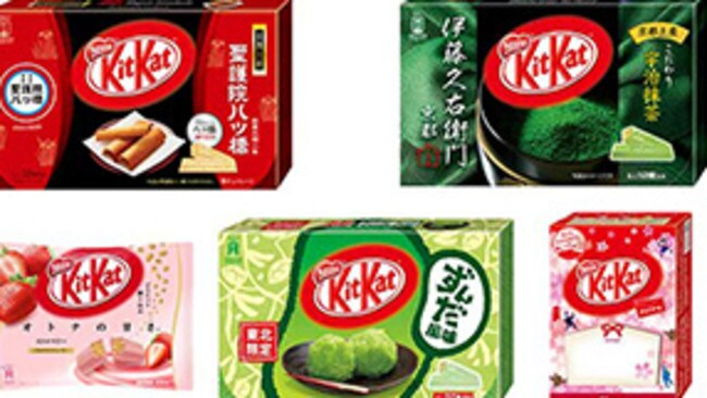 Japan's Kit Kat flavours have become a tourist attraction. Picture: Twitter/Nestle