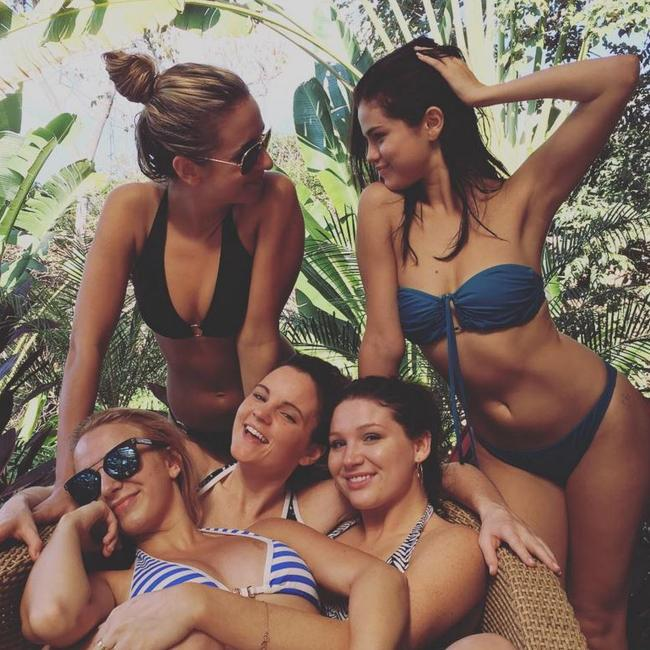 Gratuitous bikini shot with some of her 'normal' friends. Keeps her down to earth. Selena Gomez is the most followed person on Instagram. Picture: Selena Gomez/Instagram