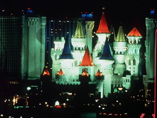 Scene of the crime ... The Excalibur Hotel and Casino in Las Vegas.