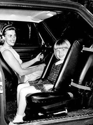 Early design... The first Volvo child seat, from 1964.