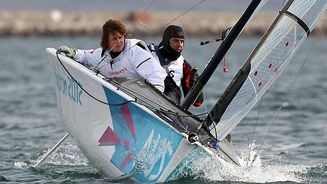 Tragedy and triumph ... Liesl out on the water in London. Picture: News Corp Australia