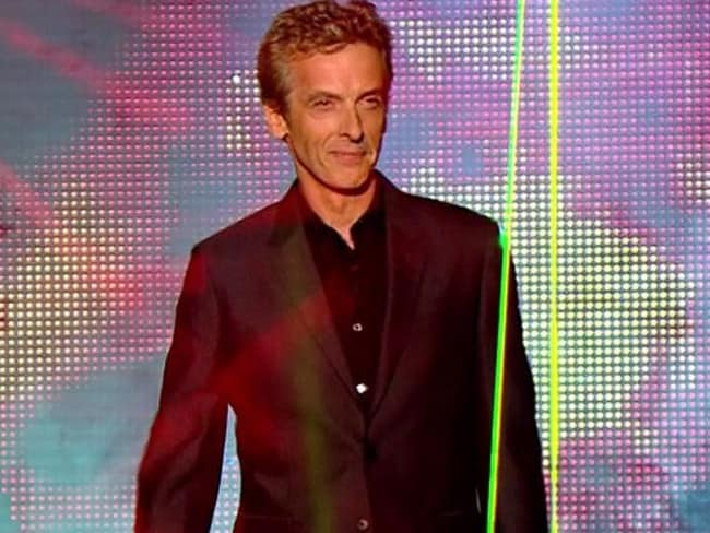Star turn ... Capaldi being announced as the new Doctor Who last year.