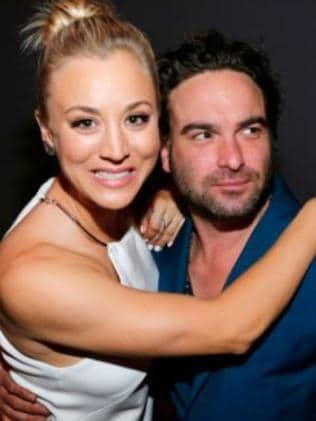 Kaley Cuoco and her ex-boyfriend, good friend and co-star Johnny Galecki. Picture: Instagram